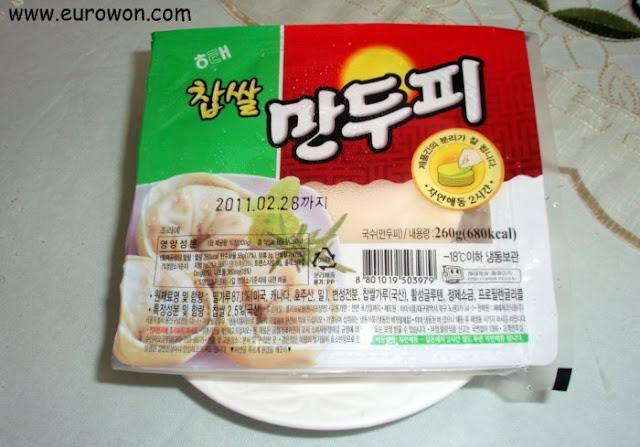 Masa para preparar mandús coreanos