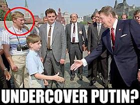 Zaviews Photo Allegedly Shows Putin In Disguise During Reagan Visit