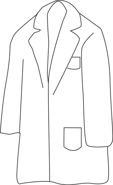 jacket clipart black and white - photo #21