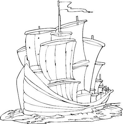 Colorear Cristóbal Colón