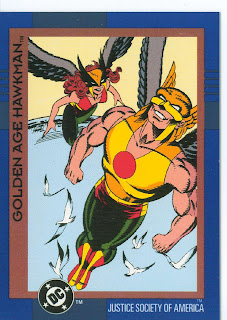 DC Cosmic Teams Hawkman card front