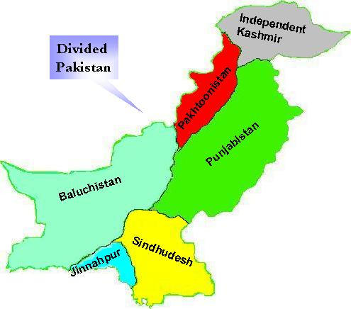 New Map after disintegration of Pakistan