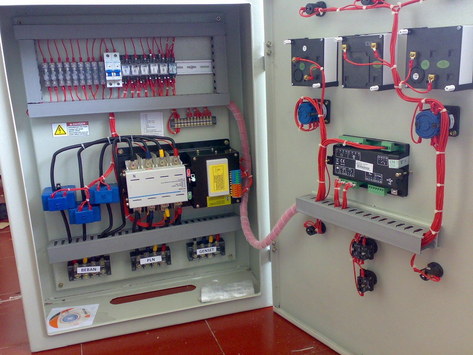 WRG-3714] Genset Synchronizing Panel Wiring Diagram on