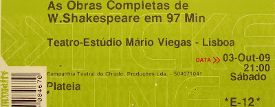 Imagem do bilhete: As Obras Completas de William Shakespeare em 97 minutos