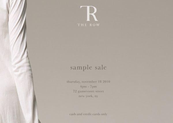 29ef325a73c3 Madison Avenue Spy  The Row Sample Sale