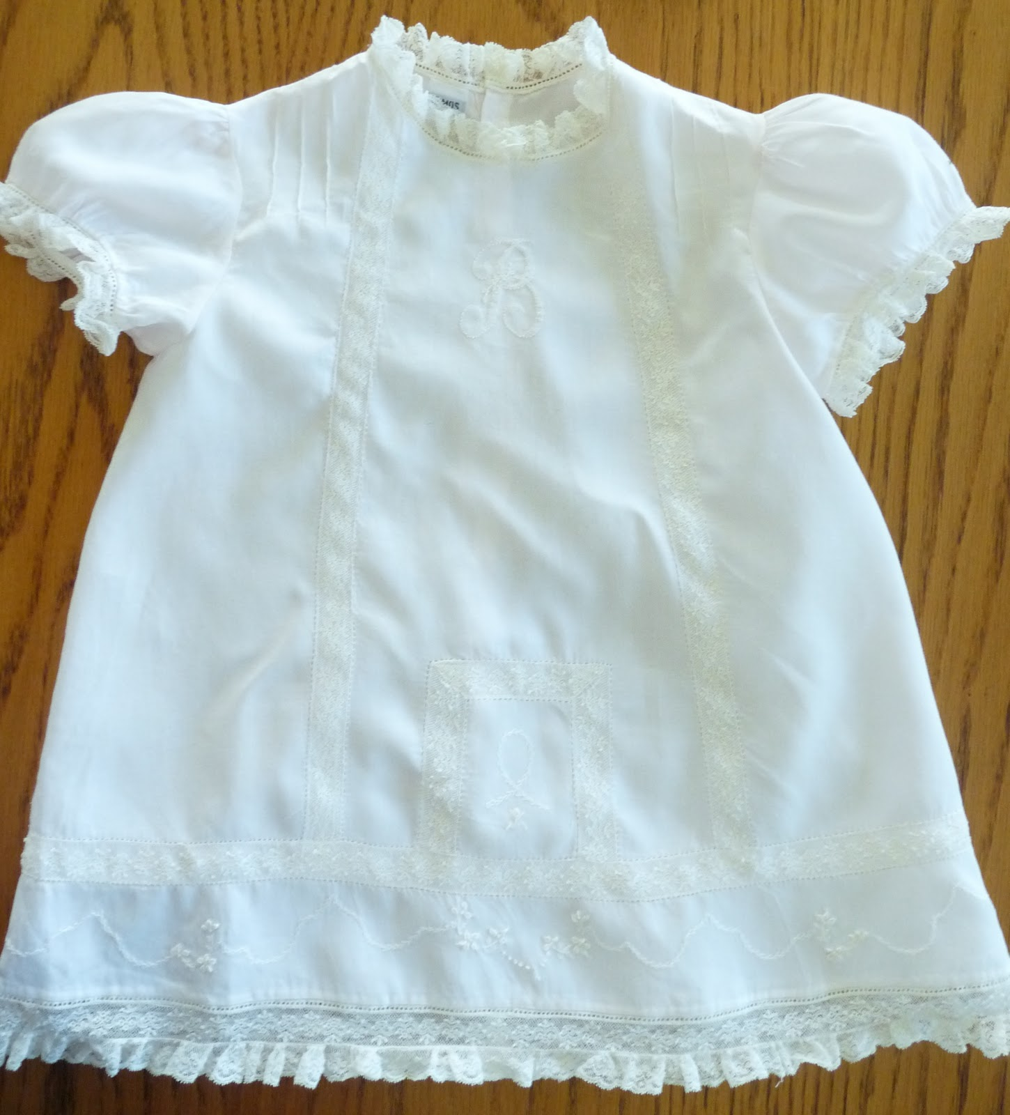 California stitching embroidered pink baby dress