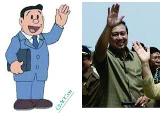 Kalo diperhatiin Presiden SBY seolah-olah Nobisuke Pak SBY Makara Tokoh Kartun Di Jepang