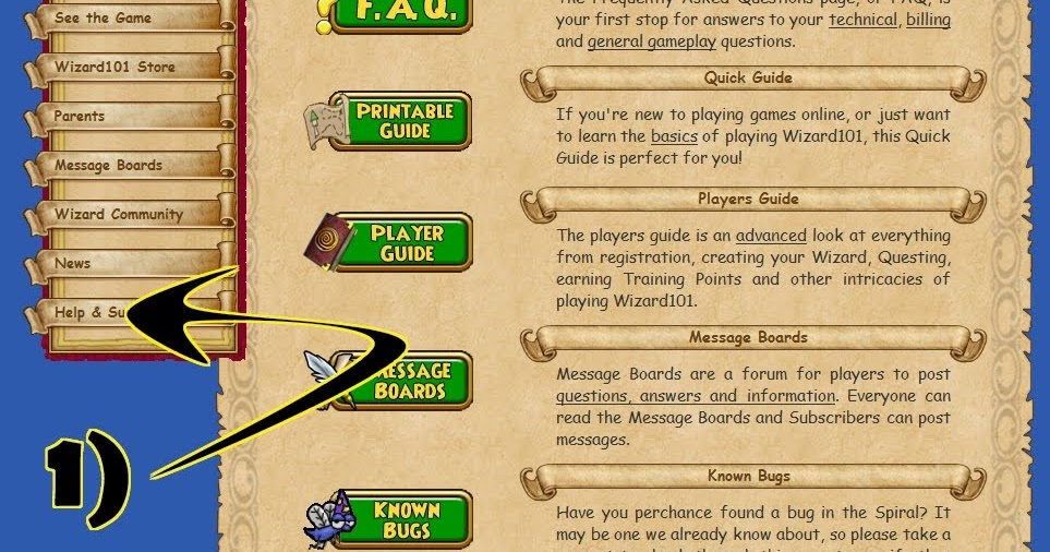 The Friendly Necromancer: How do I Report Problems in Wizard101?