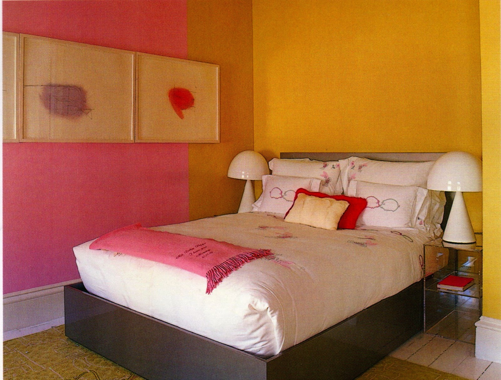painting box ode to pink 16698 | 8 pink and yellow bedroom 262