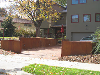 King Construction Acid Stained Concrete Retaining Walls