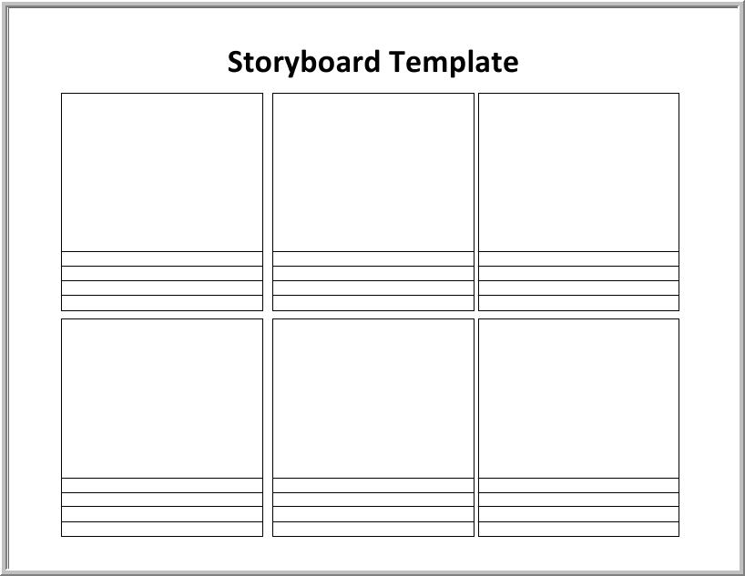 Free Storyboard Templates For Word Images Template Design Ideas