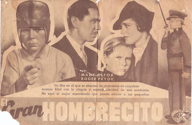 El Gran Hombrecito - Folleto de mano - Jackie Cooper - Mary Astor