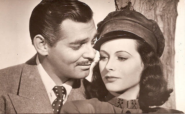 Foto antigua Clark Gable y Heddy Lamarr