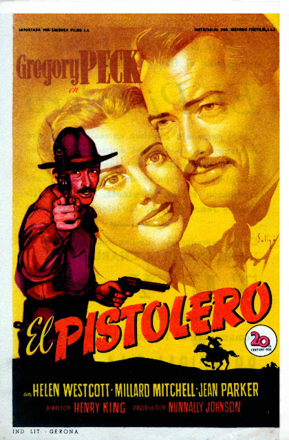 El Pistolero - Folleto de mano - Gregory Peck - Helen Westcott - Jean Parker - Karl Malden