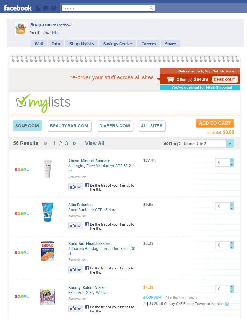 Facebook online shopping sites