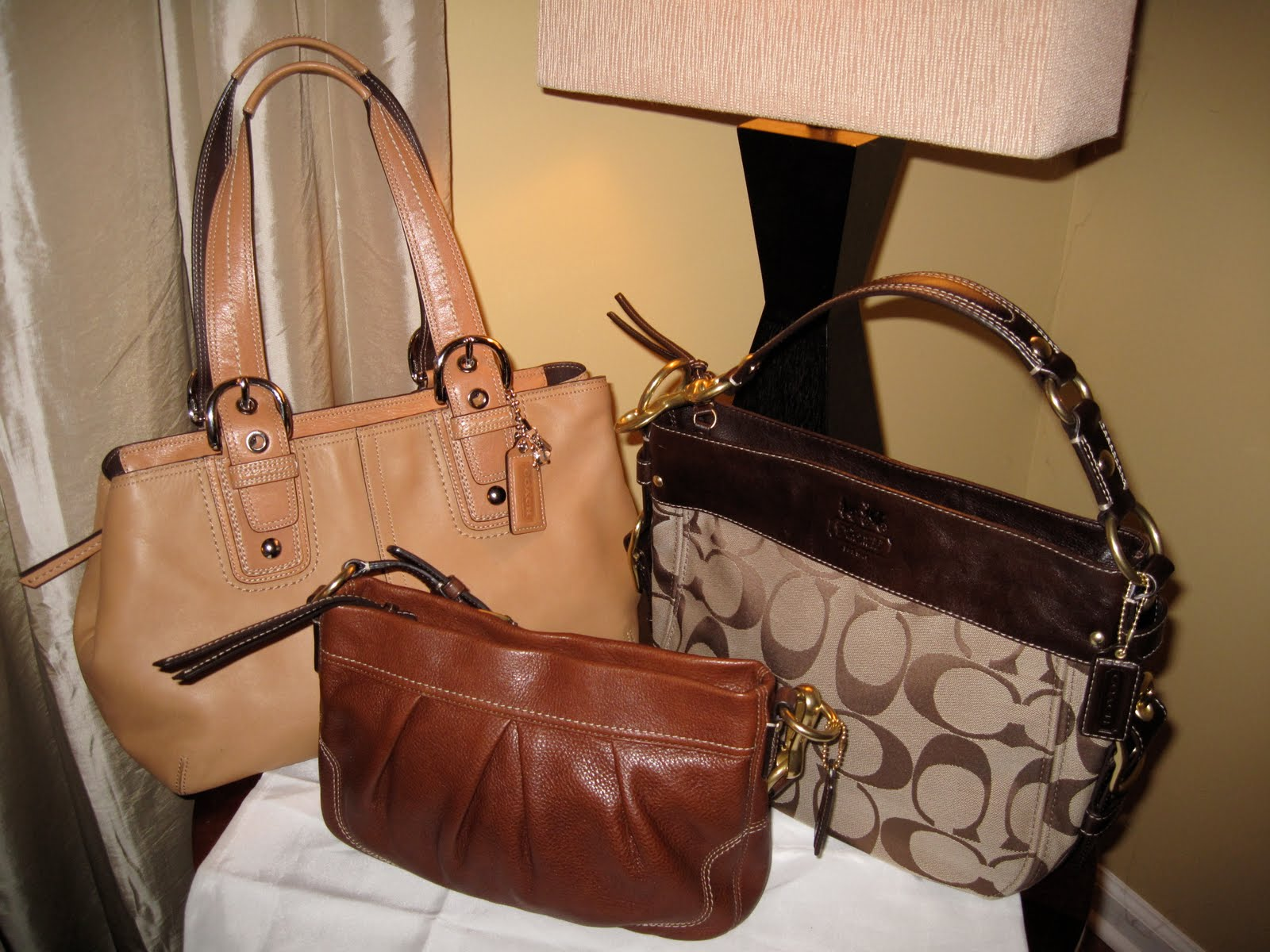 efd29735d08d My Coach leather purse collection  Leather Coach purses and on the right