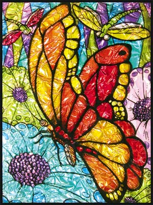 Crafts Glass Painting