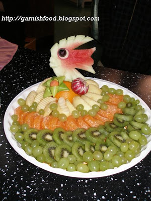 sea theme fruit decoration and figures
