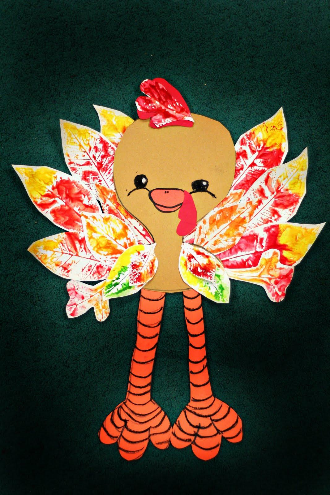 Smart Class Leaf Print Turkeys