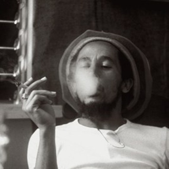 Cartoon Bob Marley Smoking Weed