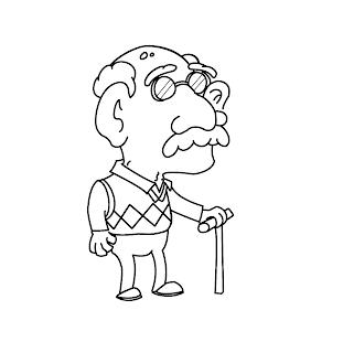 Coloring Fun!: Old man