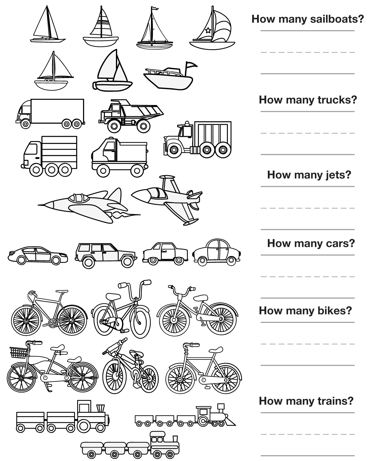 Other Graphical Works Counting Pictures Transportation To