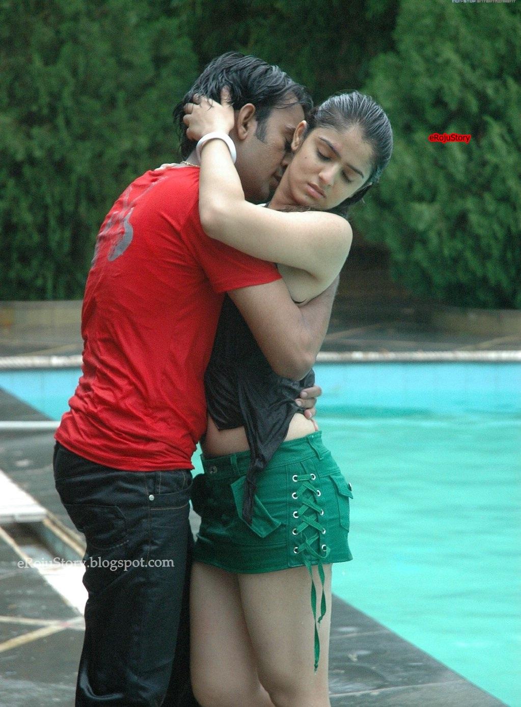 Cute Wallpapers Romance Galli Kurrallu Movie Hot And Wet Romance Stills