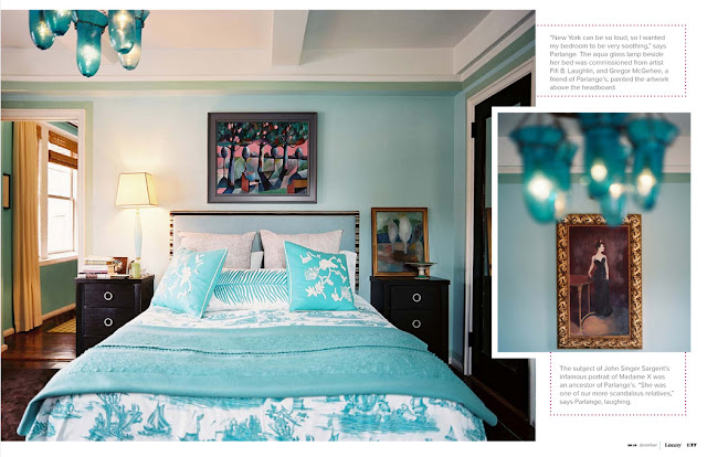 lonny, blue room, turquoise room, switcheroom