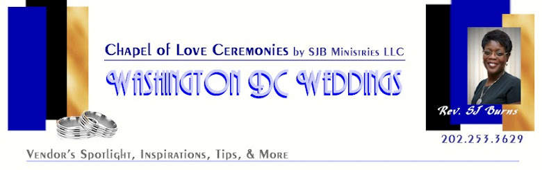 Washington DC Weddings with Rev. SJ Burns, Officiant and Photog