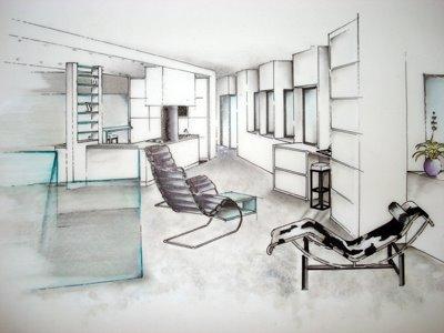 une jeune ambitieuse en architecture d 39 interieur. Black Bedroom Furniture Sets. Home Design Ideas