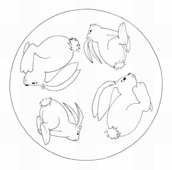 Mandalas Para Pintar: Mandalas Conejos