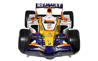 Wallpaper met Formule 1 auto