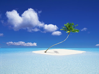 Zomer plaatje met eiland