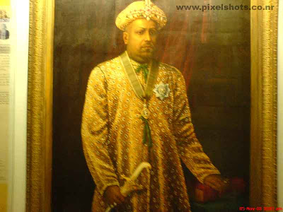 the portrait oil painting of raja of cochin photographed from inside the dutch palace portrait gallery of mattancherry cochin