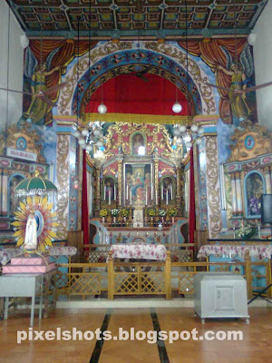 photograph of cchristian church altar of kudamaloor church kottayam kerala india.oldest christian churches in kerala india and home parish of St Alphonsa the first women saint from india