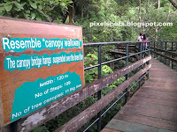 Canopy Walkway Bridge of Thenmala Adventure Zone,tourist info board of canopy bridge,Kerala ecotourism photos and info,kollam tourism,adventure nature tourism places in kerala,thenmala adventure zone