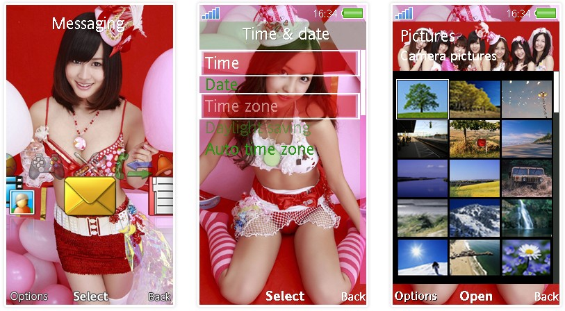 日本女子團體AKB48 SonyEricsson手機主題for Aino﹝240x432﹞ | 索愛の手機主題