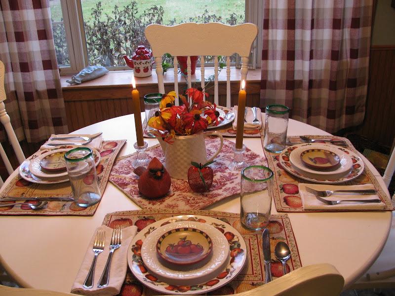 Applestone Cottage Apple Tablescape Tablescape Thursday