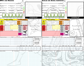 d4d6d8d10d12d20: Custom Pathfinder Character Sheets