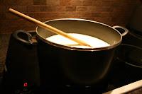It takes a lot of milk to make a lot of porridge!