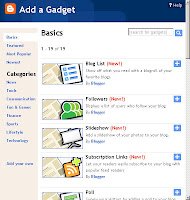 Add a Gadget in Blogger Layout