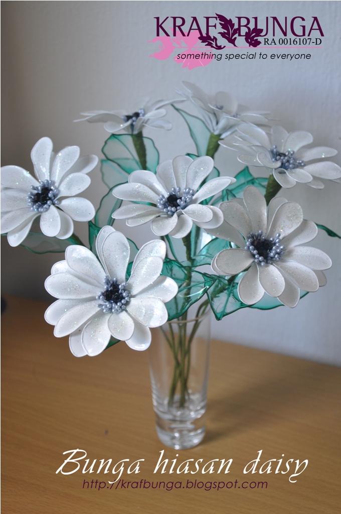 krafbunga hiasan daisy putih