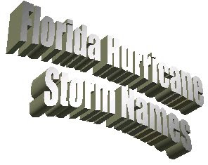 Florida Hurricane Storm Names