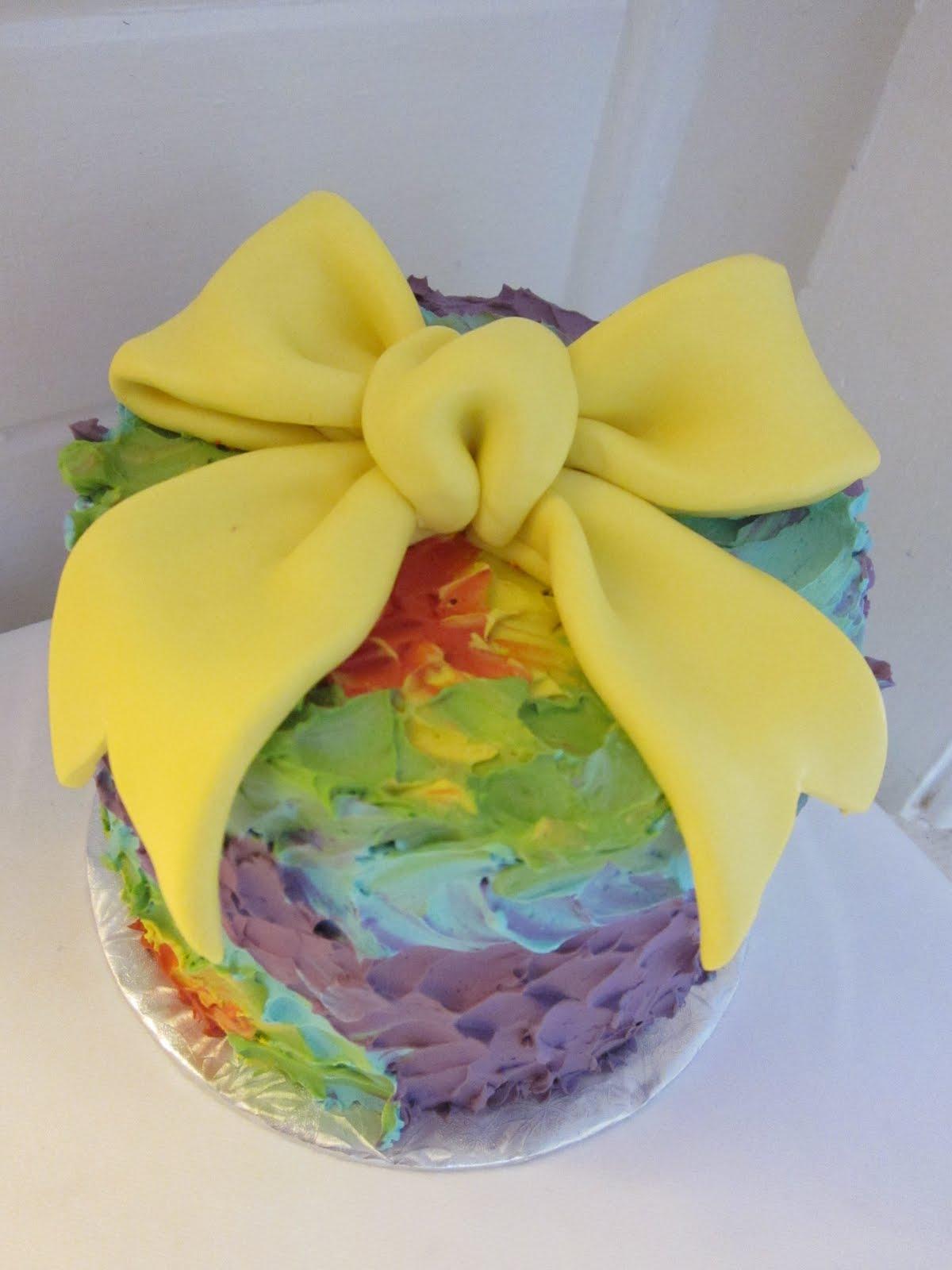 Polkadots Cupcake Factory Tie Dye Cake