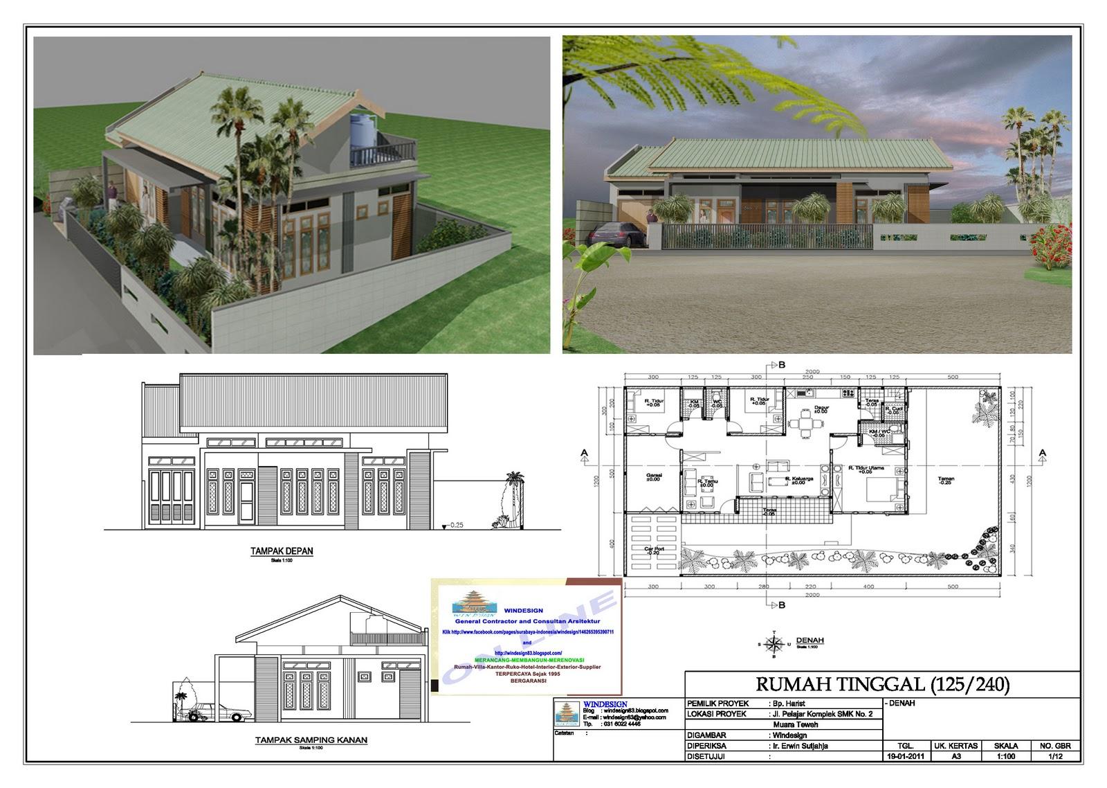 Gambar Desain Rumah Minimalis Melebar Kesamping Desain Rumah