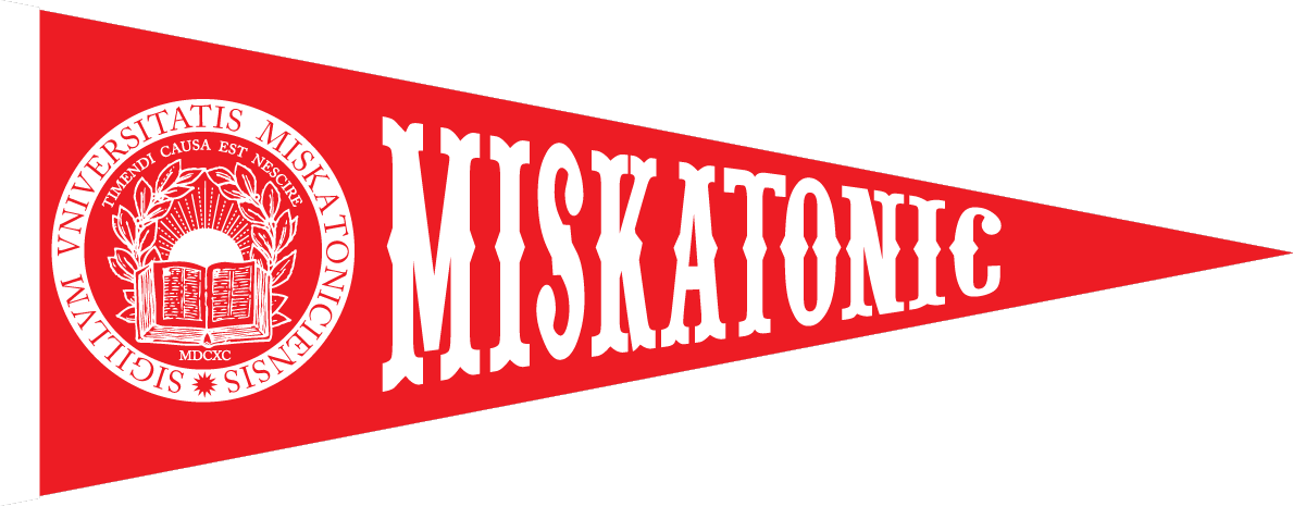 Propnomicon Miskatonic Pennant Design