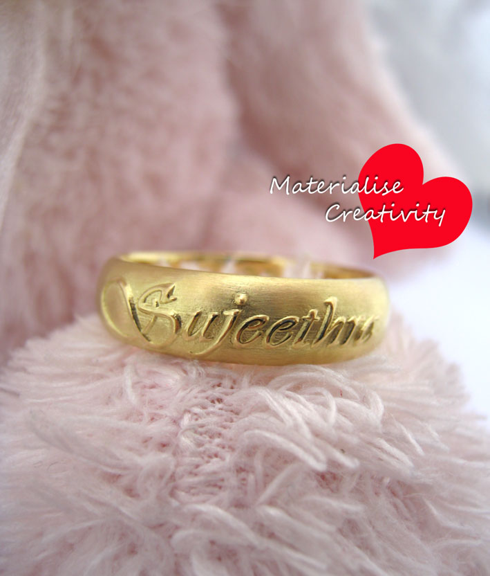 Materialise Creativity 18k Yellow Gold Name Embossed
