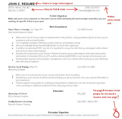 Resume Layout - Examples Resume Layout Advice - layout for a resume