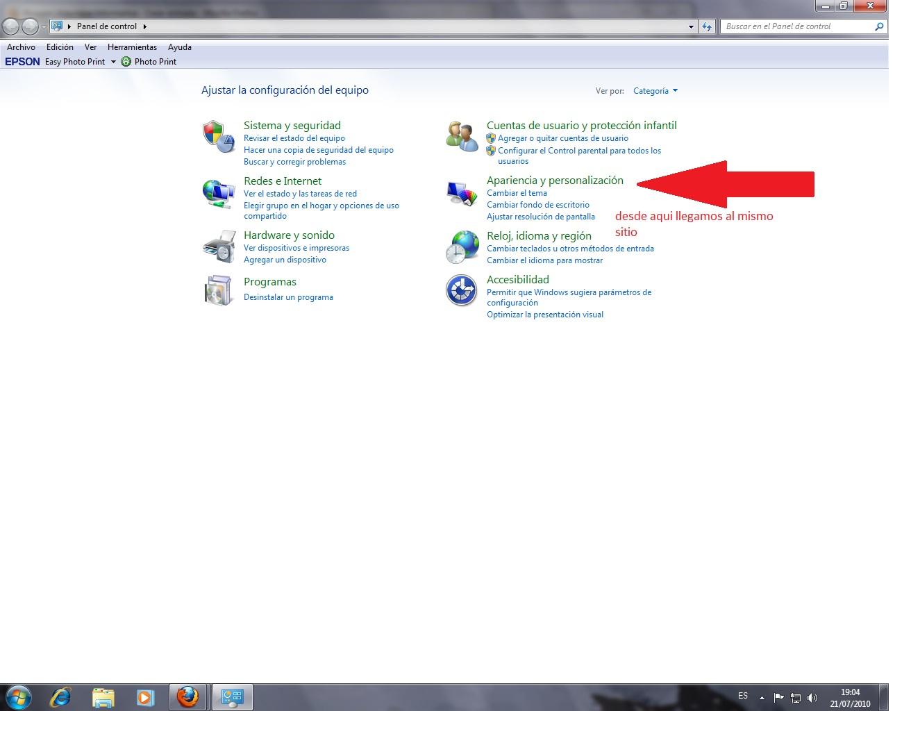 Como cambiar el fondo de pantalla - Como cambiar fondo de escritorio windows 7 starter ...