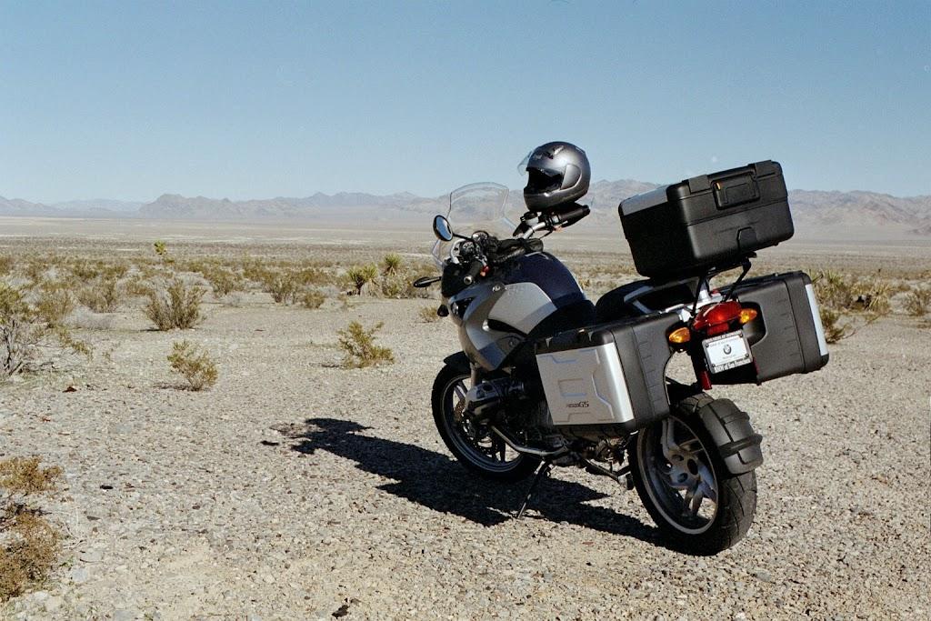 2005 BMW R1200 GS in Nevada desert near Nellis AFB test range